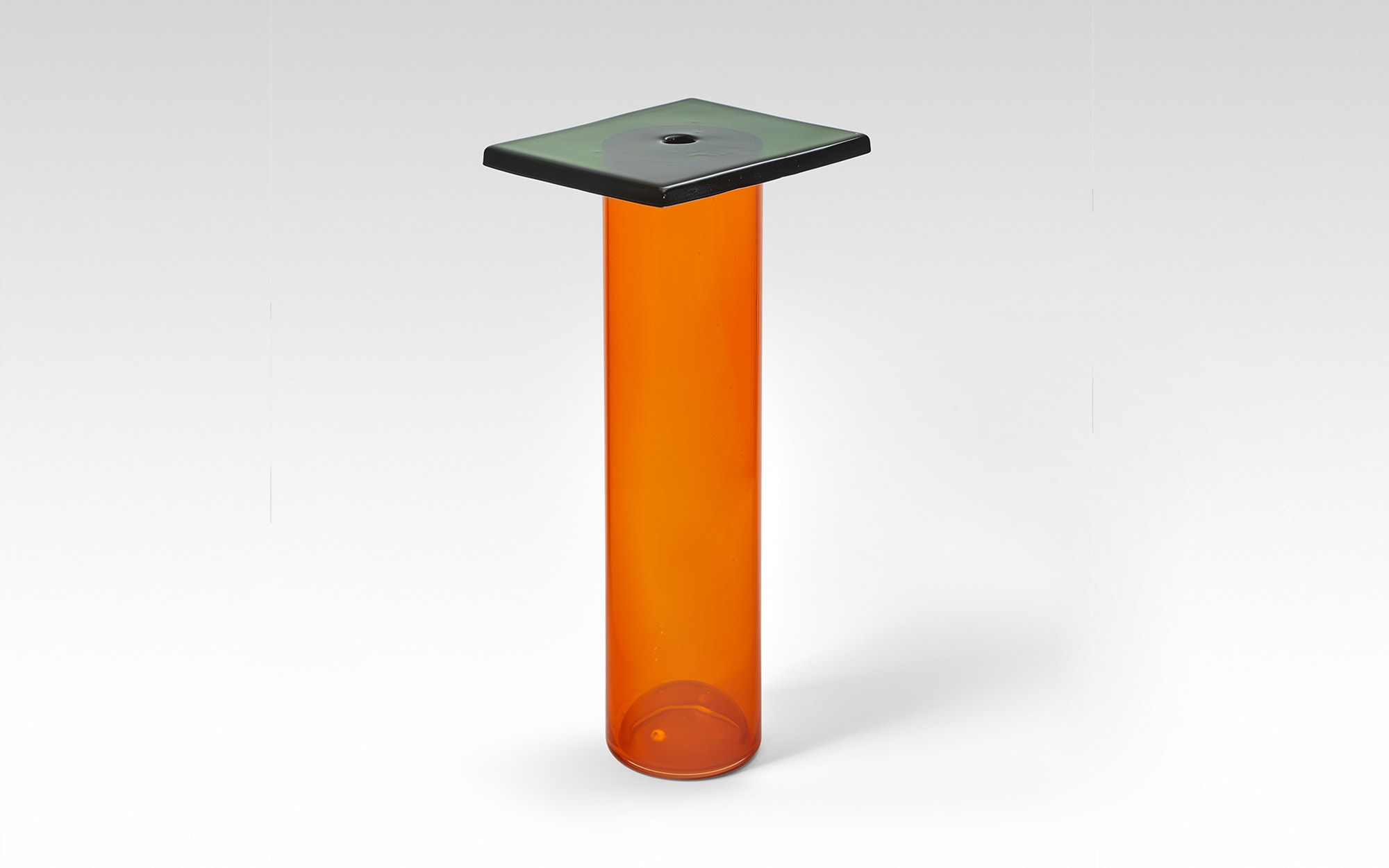 Pierre Charpin Vase Dalle (Orange Tube/ Green Flagstone)